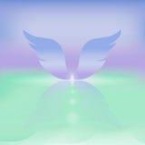 紫色翼柔和的淡色彩背景 库存照片