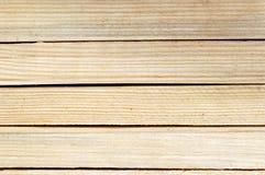 黄色老木板条纹理 免版税库存照片