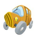 黄色老汽车的例证 库存图片