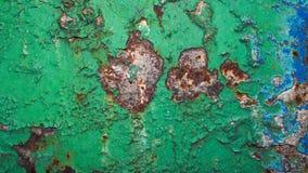 绿色老油漆 免版税图库摄影