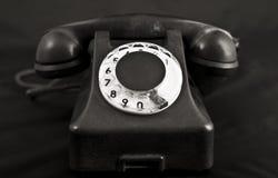 黑色老电话 图库摄影