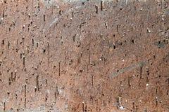 黄色老破裂的砖纹理背景 免版税图库摄影