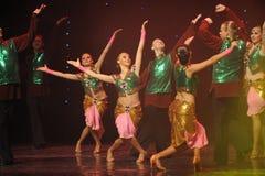 绿色背心印度记忆这奥地利的世界闪光跳舞 库存图片
