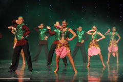 绿色背心印度记忆这奥地利的世界闪光跳舞 库存照片