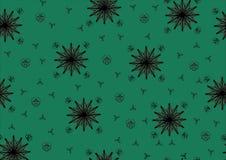 绿色背景与星 库存照片