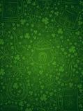 绿色背景为与误码率的Patricks天抢劫,帽子,马掌 库存例证