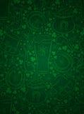 绿色背景为与误码率的Patricks天抢劫,马掌,帽子 库存例证