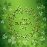 绿色背景为圣帕特里克` s天-传染媒介 免版税库存图片