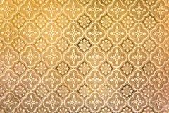 黄色背景厚玻璃板纹理 免版税库存照片