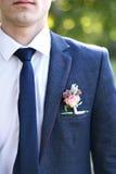 绿色背景的新娘 免版税库存照片