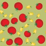 黄色胡椒和蕃茄无缝的纹理563 皇族释放例证