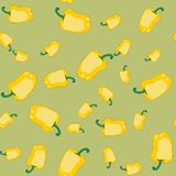 黄色胡椒无缝的纹理565 皇族释放例证