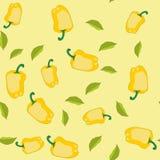 黄色胡椒无缝的纹理562 皇族释放例证
