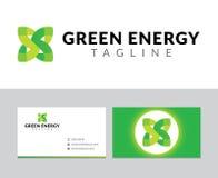 绿色能源徽标 免版税库存图片