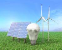 绿色能源的概念 皇族释放例证