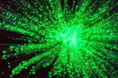 绿色能量光爆炸 库存照片
