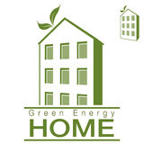 绿色能量公寓家 免版税图库摄影