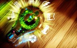 绿色能量创新技术的概念 皇族释放例证