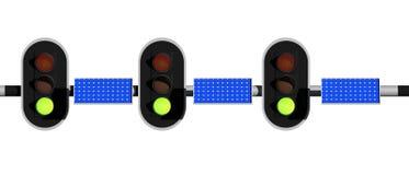 绿色能量的绿灯 免版税库存照片