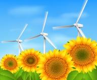 绿色能量背景 库存例证