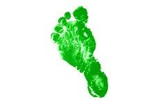 绿色脚印 库存照片