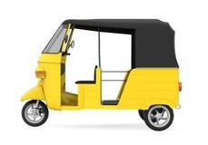 黄色自动人力车 皇族释放例证