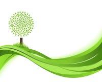 绿色自然背景。Eco概念例证。 库存图片