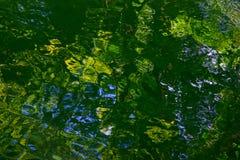 绿色自然水反射 库存图片