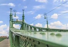 绿色自由桥梁在布达佩斯 免版税库存照片