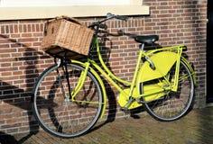 绿色自行车 图库摄影