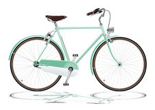 绿色自行车 免版税库存照片