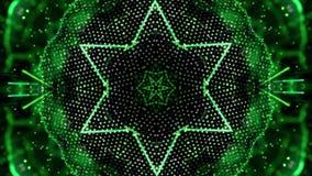 绿色自转摘要背景由许多小元素做成 皇族释放例证