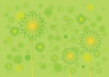 绿色花卉传染媒介背景 免版税库存照片