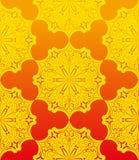 黄色花卉无缝的patterm 库存照片