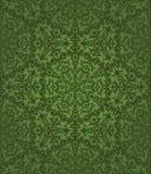 绿色花卉无缝pettern 免版税库存图片