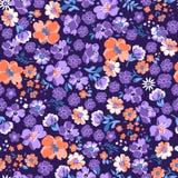 紫色花卉背景 免版税库存照片