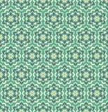 绿色花无缝的样式 免版税库存图片
