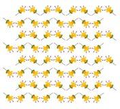 黄色花纹花样 免版税库存图片