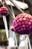 紫色花花束 库存照片