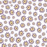 紫色花被仿造的背景 免版税库存图片