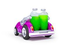 紫色苏打汽车后面 免版税库存图片