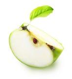 绿色苹果切片 免版税库存照片