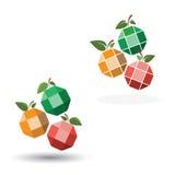 绿色苹果图标 免版税库存照片