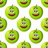 绿色苹果果子的无缝的样式 库存照片