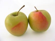 绿色苹果生动描述包装4的果汁的系列 免版税图库摄影