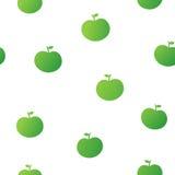 绿色苹果的无缝的样式 免版税库存照片