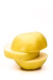 黄色苹果计算机 免版税库存照片