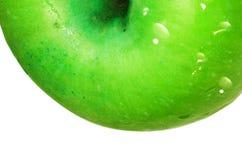 绿色苹果详细资料 免版税库存照片