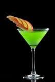 绿色苹果马蒂尼鸡尾酒 库存照片