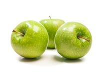 绿色苹果,隔绝在白色背景 免版税库存图片